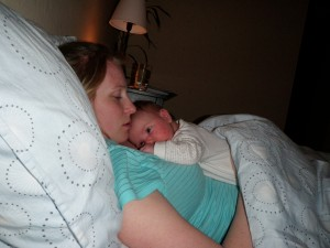 Ibland somnar mamma först