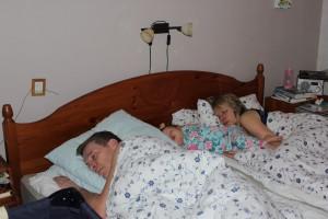 Sover på rad