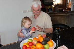 Middag hos farmor och farfar